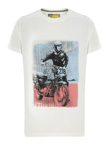 Boy Short Sleeve Motorcycle Graphic Tshirt