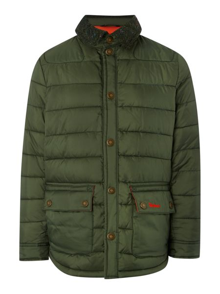 Barbour Boys Quilted Tweed Collar Jacket