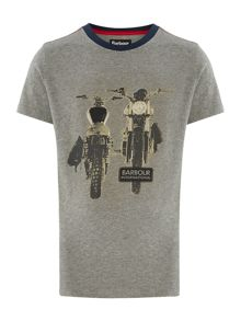 Boy Short Sleeved Motorcycle Graphic Tshirt