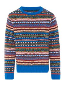Boys Long Sleeved Crew Neck Fairisle