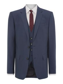Huge Genius Slim Fit Silk And Wool Mix Three Piec