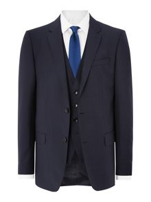 Hugo Boss Huge Genius Slim Fit French Navy Three Piece Suit