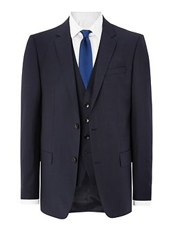Huge Genius Slim Fit French Navy Three Piece