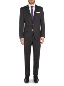 Hutson Gander Slim Fit Charcoal Texture Suit