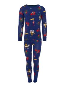 Joules Boys Knight Printed Long Sleeve Pyjamas