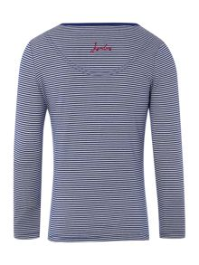 Girls Mice Logo Striped Long Sleeved Top