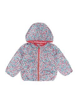 Joules Girls Ditsy Printed Hooded Padded Jacket