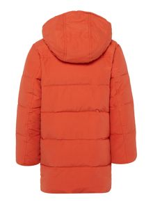 Boys Hooded Padded Jacket With Fleece Lining