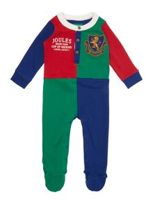 Boys Harlequin Long Sleeved Baby Grow