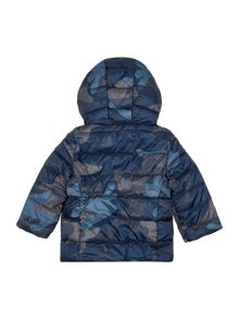 Boys Padded Reversible Camo Jacket With Hood