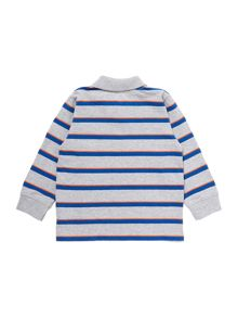 Boys Long Sleeve Stripe Polo