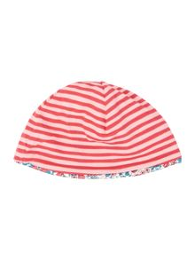 Girls Ditsy Print Reversible Hat