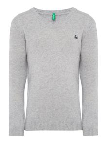 Benetton Boys Classic V Neck Jumper