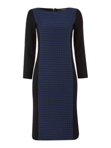 Max Mara Marmo long sleeve dress with textured panel
