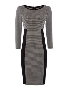 Romagna Long sleeve check dress