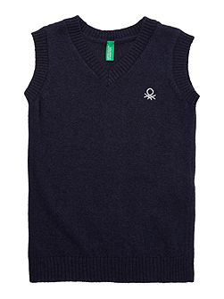 Boys Classic Knitted V Neck Sweater