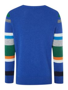 Boys Long Sleeved Multi Stripe Sweater