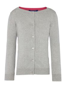 Joules Girls Button Through Lurex Cardigan