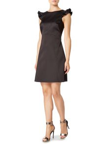 Pied a Terre Frill sleeve black dress