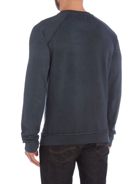 Bellfield Beestow Faded Crew Neck Logo Jumper