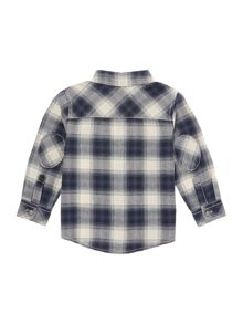 Boys Long Sleeved Check Shirt with Elbow Patches