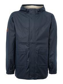 Bellfield Waterproof Coated Zip Up Hooded Jacket