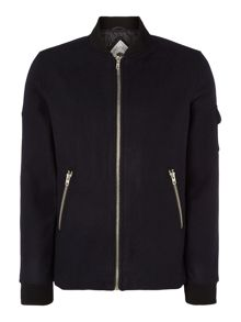 Bellfield Wool Zip up Bomber Jacket