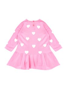 Girls Knitted Heart Print Dress