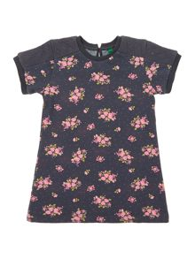 Benetton Girls All Over Floral Print Sweater