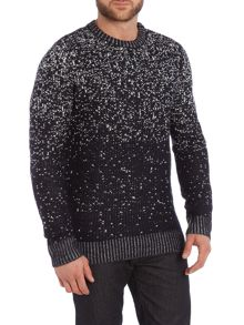 Bellfield All Over Fleck Crew Neck Knitted Jumper