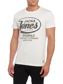 Jack & Jones Print Crew Neck Regular Fit T-Shirt