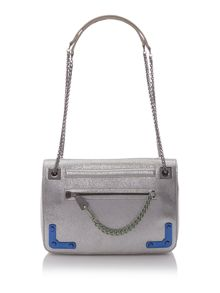 Diana silver medium crossbody bag