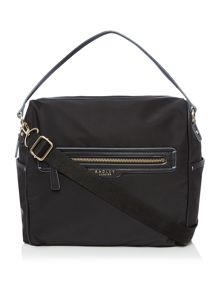Mercer street large black crossbody bag