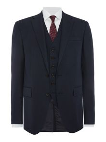 Polo1 Slim Fit Textured Three Piece Suit