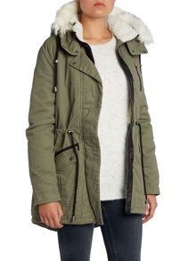 Parka with Detachable Fur Hood