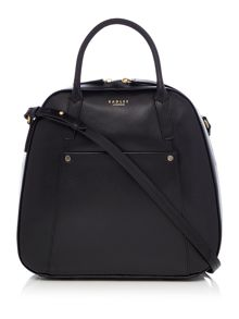 Highbury barn large black dome crossbody bag