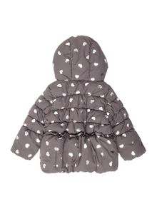 Benetton Girls Heart Padded Jacket