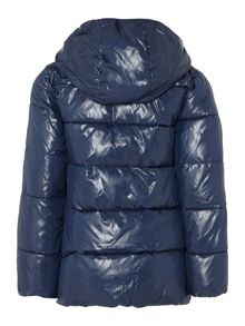 Benetton Girls Padded Contrast Zip Hood Jacket