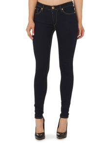 True Religion Halle SuperT mid rise skinny jean in stormy night
