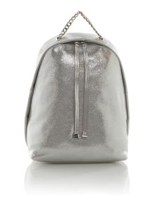 Furla Spy silver backpack