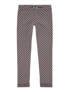 Benetton Girl Glitter Heart Jogging Bottoms