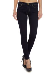 Halle mid rise super skinny jean in body rinse