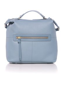 London wall blue medium cross body tote bag