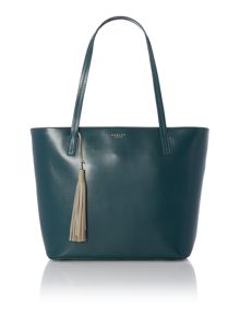 Radley De beauvoir large green tote bag