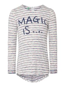 Girls Long Sleeved Magic Flowers Tshirt