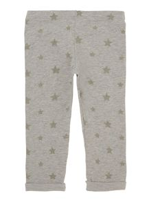 Girls All Over Print Star Jogging Bottoms