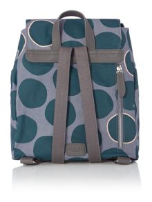 Spot on green medium flap over backpack