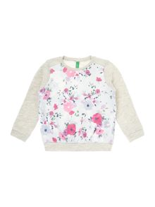 Girls All Over Print Floral Sweat
