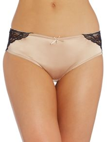 Marie Meili Yvette satin lace hipster brief