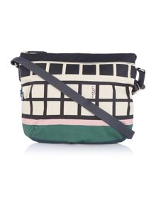 Downtown multi coloured cross body bag